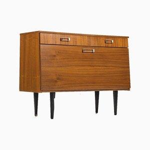 Vintage Walnut Shoe Cabinet, 1960s