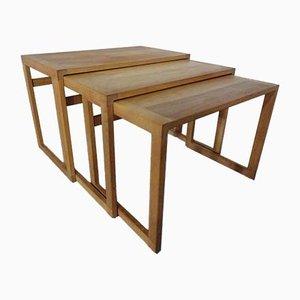 Danish Oak Nesting Tables, 1960s