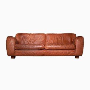 Vintage 2-Sitzer Ledersofa von Teun van Zanten für Molinari
