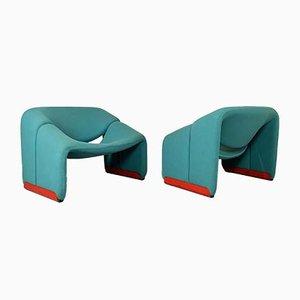 F598 Sessel von Pierre Paulin für Artifort, 1970er, 2er Set