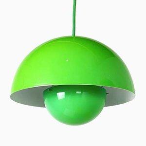 Lámpara colgante Flowerpot en verde de Verner Panton para & Tradition, década de 2000