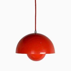 Lámpara colgante Flowerpot en rojo de Verner Panton para & Tradition, década de 2000
