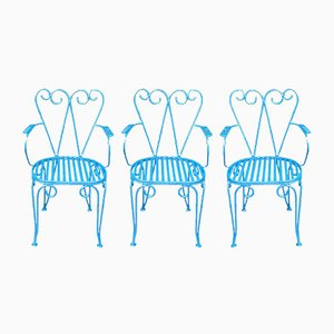Mid-Century Garden Chairs, Set of 3