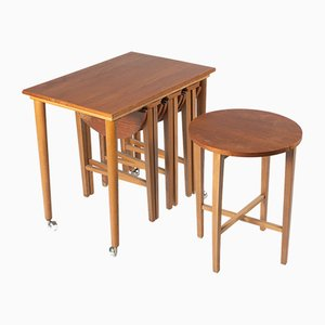 Mid-Century Nesting Tables from Poul Buch Hundevad