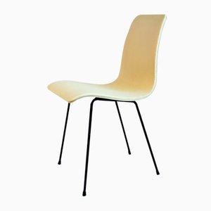 Französische Esszimmerstühle aus Sperrholz, 1950er, 6er Set