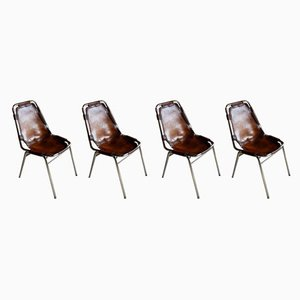 Leather Dining Chairs by Charlotte Perriand for Cassina, 1970s, Set of 4