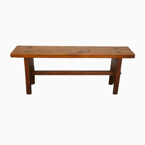 French Chestnut Bench, 1970s