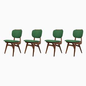 Niederländische Teak Esszimmerstühle, 1960er, 4er Set