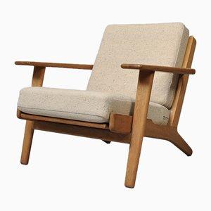 Oak Model GE290 Lounge Chair by Hans J. Wegner for Getama, 1950s