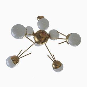 Lámpara de araña Sputnik italiana, años 60