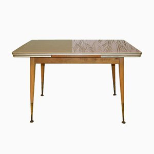 Large Mid-Century Extendable Teak-Optic Formica Coffee Table