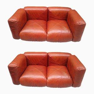 Vintage Sofas von Mario Marenco für Arflex, 2er Set