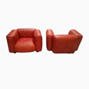 Vintage Armchairs by Mario Marenco for Arflex, Set of 2