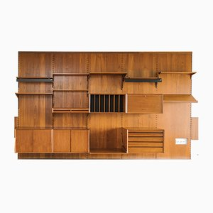 Large Teak Modular Wall Unit by Poul Cadovius for Cado, 1950s
