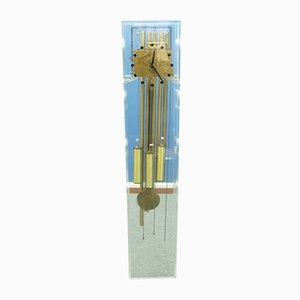 Plexiglass & Brass Clock from Kieninger, 1970s