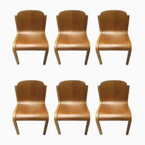 Italienische Mid-Century Stühle von Carlo Bartoli für Tisettanta, 6er Set