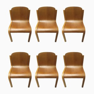 Mid-Century Italian Chairs by Carlo Bartoli for Tisettanta, Set of 6