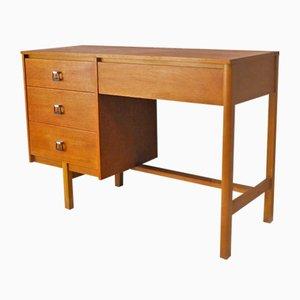 Englischer Schreibtisch mit Schraffur & Spiegel, 1960er