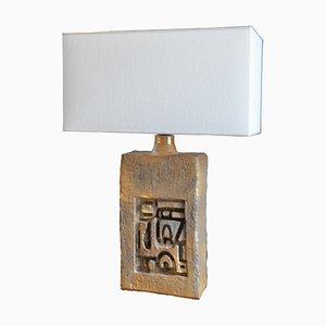 Lampe de Bureau en Céramique par Marius Bessone, France, années 70