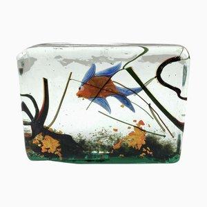 Murano Glas Aquarium Skulptur von Alfredo Barbini für Cenedese, 1960er
