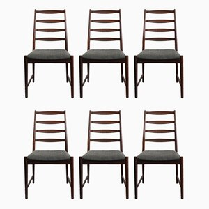 Danish Rosewood Dining Chairs by Arne Vodder, 1960s, Set of 6