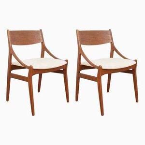 Chaises de Salle à Manger en Teck par Vestervig Eriksen, années 60, Set de 2