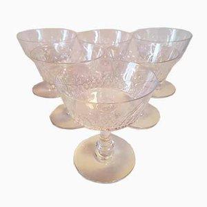 Verres à Champagne Modèle Champigny d'Époque de Baccarat, années 10, Set de 6