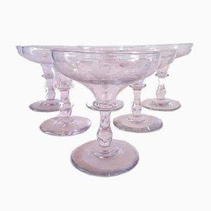 Verres à Champagne d'Époque en Cristal de Baccarat, années 1900, Set de 6