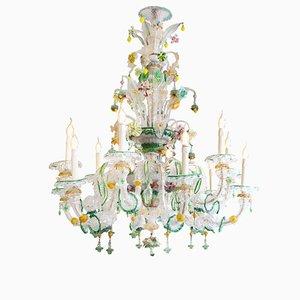 Italian Murano Glass Chandelier, 1930s