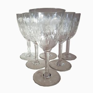 Antique Crystal Model Molière Water Glasses from Baccarat, 1920s, Set of 6