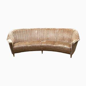 Italian Curved Sofa, 1950s