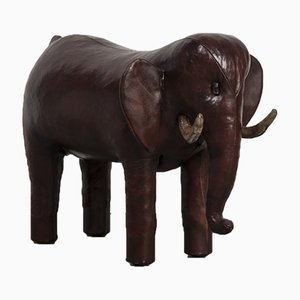 Vintage Elephant Footstool by Dimitri Omersa