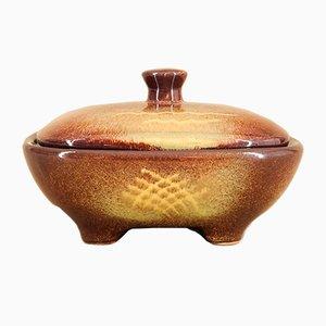 Porta caramelle Art Deco vintage in ceramica