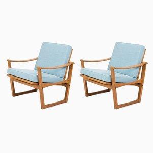Eichenholz Modell 65 Armlehnstühle von Finn Juhl für Nissen Naarden, 1950er, 2er Set