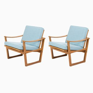 Oak Model 65 Armchairs by Finn Juhl for Nissen Naarden, 1950s, Set of 2
