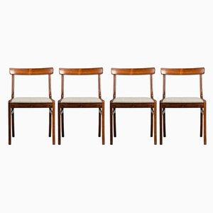 Palisander Esszimmerstühle von Ole Wanscher für Poul Jeppesens Møbelfabrik, 1960er, 4er Set