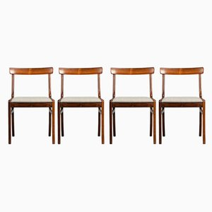 Rosewood Dining Chairs by Ole Wanscher for Poul Jeppesens Møbelfabrik, 1960s, Set of 4