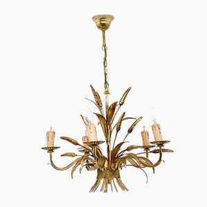 Gilt Metal Chandelier by Jan, 1960s