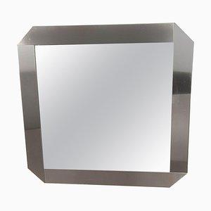 Spiegel aus gebürstetem Stahl von Gaetano Sciolari für Valenti Luce, 1970er