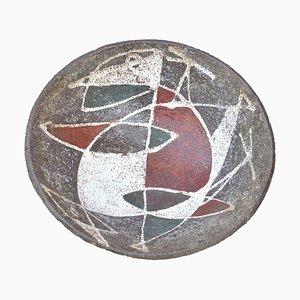 Französische Keramik Schale, 1950er