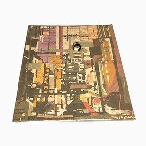 Kleiner Wandteppich aus Baumwolle von Les Tissages d'art de Lys, 1950er