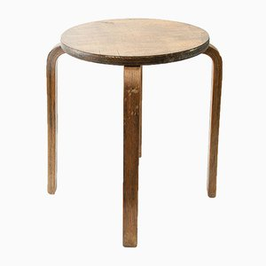 Finnish Wooden Stool in the Style of Artek, 1960s