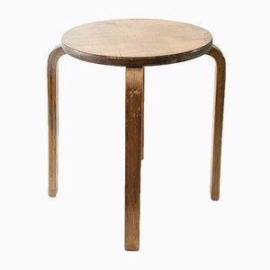 Taburete finlandés de madera de Artek, años 60