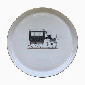 Plato italiano de porcelana de Verbano, años 60