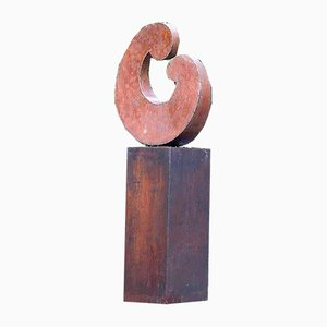 Große Abstrakte Stahl Modell Tendresse Outdoor Skulptur, 1980er