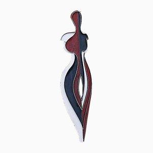 Escultura de exterior modelo Plume abstracta grande de acero, años 80