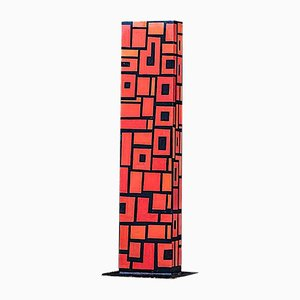 Large Abstract Steel Model Totem Outdoor Sculpture, 1980s