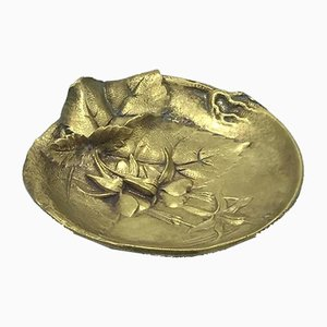 Brass Floral Ashtray, 1960s