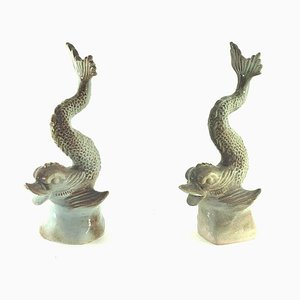 Ceramic Fish Sculptures, 1970s, Set of 2