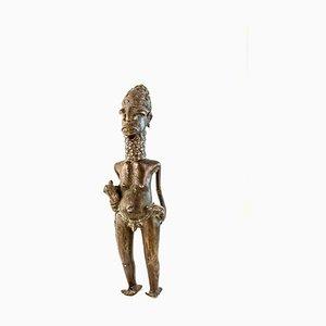 Escultura vintage de bronce africano